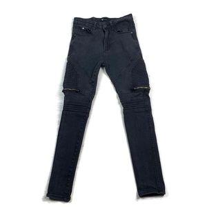 Waimea Skinny Fit Jeans Black Distressed 30  x 29